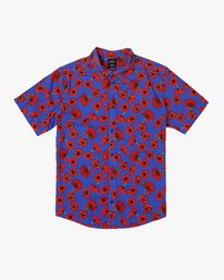 0 Peace Poppy Button-Up Shirt Red M510VRPP RVCA