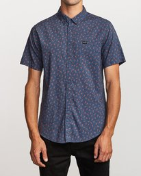 0 Prelude Floral Button-Up Shirt Blue M511VRPF RVCA