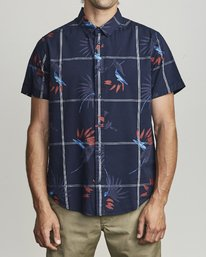 0 FILLMORE BUTTON-UP SHIRT Blue M5131RFL RVCA