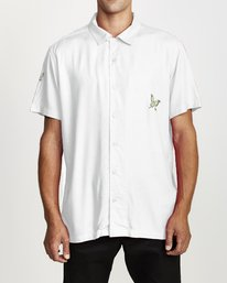 0 LIVER IDEA SHORT SLEEVE SHIRT White M5132RLI RVCA