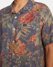 7 Beat Print Short Sleeve Shirt Blue M5153RBS RVCA