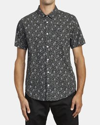 0 MONKBERRY FLORAL SHORT SLEEVE SHIRT Black M5163RMB RVCA