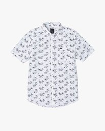 0 EASY PALMS BUTTON-UP SHIRT White M5191REP RVCA