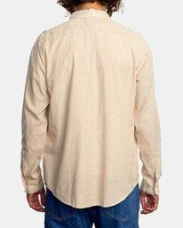 2 Endless Seersucker Long Sleeve Shirt Brown M5192REN RVCA