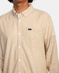 3 Endless Seersucker Long Sleeve Shirt Brown M5192REN RVCA