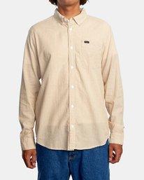 1 Endless Seersucker Long Sleeve Shirt Brown M5192REN RVCA