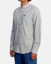4 Endless Seersucker Long Sleeve Shirt Blue M5192REN RVCA