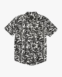 0 Mahalo Palm Button-Up Shirt White M523VRMP RVCA