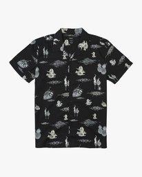 0 Ancell Hula Gunz T-Shirt Black M549URHG RVCA