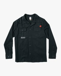 0 Smith Street Long Sleeve Shirt Black M550VRSS RVCA