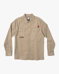 0 Smith Street Long Sleeve Shirt Green M550VRSS RVCA