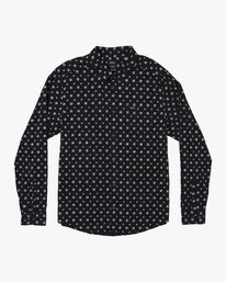 0 Costello Floral Long Sleeve Shirt Black M550WRCO RVCA