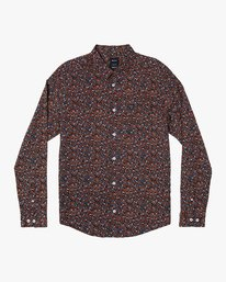 0 Costello Floral Long Sleeve Shirt Orange M550WRCO RVCA