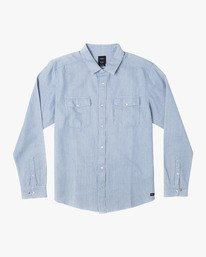 0 NAKAMA II BUTTON-UP SHIRT Brown M5511RNK RVCA