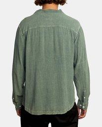 2 BEAT LONG SLEEVE SHIRT Green M5513RBL RVCA