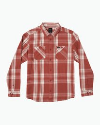 0 Wanted Lightweight Plaid Flannel Red M551SRWA RVCA