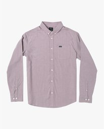 0 THATLL DO STRETCH LONG SLEEVE SHIRT Red M551VRTD RVCA