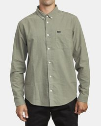 0 THATLL DO STRETCH LONG SLEEVE SHIRT Green M551VRTD RVCA