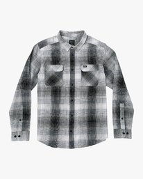 0 Muir Plaid Long Sleeve Flannel Black M552TRMF RVCA