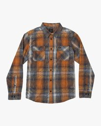 0 Muir Plaid Long Sleeve Flannel  Orange M552TRMF RVCA