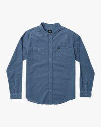 0 Freeman Corduroy Long Sleeve Shirt Blue M552VRFC RVCA