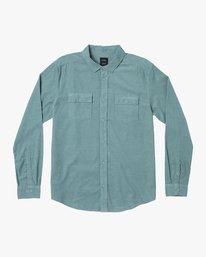 0 Freeman Corduroy Long Sleeve Shirt Green M552VRFC RVCA