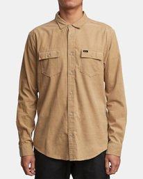 0 Freeman Corduroy Long Sleeve Shirt Yellow M552VRFC RVCA