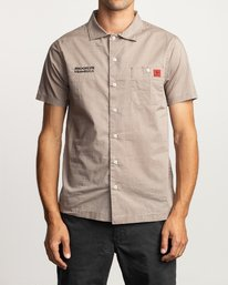 0 Smith Street Short Sleeve Shirt Grey M552VRSS RVCA