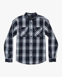 0 Reverberation Plaid Button-Up Flannel Blue M552WRRV RVCA