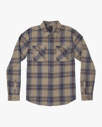 0 Reverberation Plaid Button-Up Flannel Beige M552WRRV RVCA