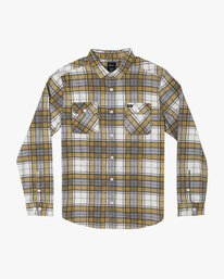 0 PANHANDLE BUTTON-UP FLANNEL Yellow M5531RPH RVCA