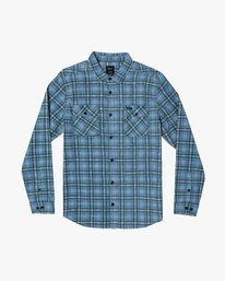 0 PANHANDLE BUTTON-UP FLANNEL Blue M5531RPH RVCA