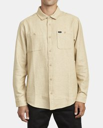 0 HARVEST LONG SLEEVE FLANNEL Beige M5533RHF RVCA