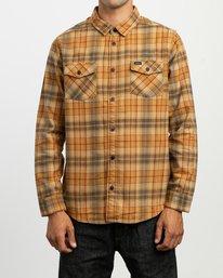 0 Watt Plaid Long Sleeve Flannel Beige M553TRWF RVCA