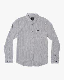 0 Endless Seersucker Long Sleeve Shirt Black M553WREN RVCA