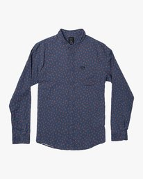 0 Prelude Floral Long Sleeve Shirt Blue M554VRPF RVCA