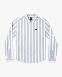 0 Caravan Striped Long Sleeve Shirt White M554WRCV RVCA
