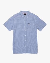 0 Mother Seersucker Button-Up Shirt Blue M556WRMS RVCA