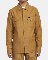 0 FUBAR SHIRT JACKET Brown M5573RFS RVCA