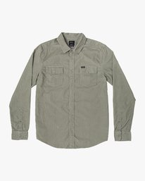 0 FREEMAN CORD LONG SLEEVE SHIRT Green M5583RFC RVCA