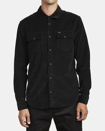 0 FREEMAN CORD LONG SLEEVE SHIRT Black M5583RFC RVCA