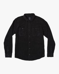 0 Uplift II Fleece Button-Up Shirt Black M558WRUP RVCA