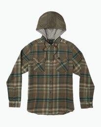 0 Essex Plaid Hooded Flannel Green M561SRSW RVCA