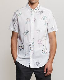 0 AR Lottie Flowers Button-Up Shirt White M561URAL RVCA