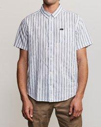 0 Shuffle Stripe Button-Up Shirt White M564URAS RVCA