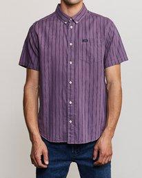 0 Shuffle Stripe Button-Up Shirt Blue M564URAS RVCA