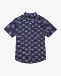 0 Gauze Dot Button-Up Shirt Blue M566URPD RVCA