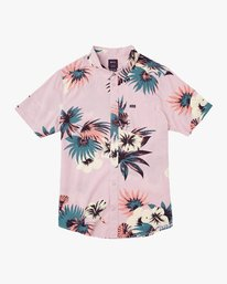 0 Romeo Floral Button-Up Shirt Pink M567URRF RVCA