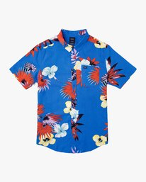 0 Romeo Floral Button-Up Shirt Blue M567URRF RVCA