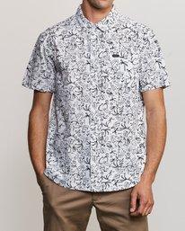 0 Sketchy Palms Button-Up Shirt White M572URSP RVCA